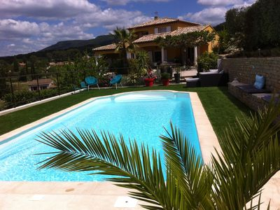 Photo for Lovely ground villa 3 *** independent swimming pool, made safe, large garden