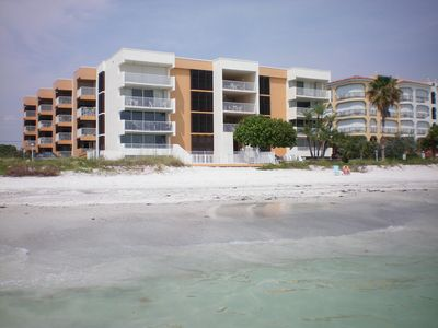 A view from the beach and a few steps to the gulf