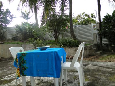 Photo for Cosy 1 Bedroom fully equipped apart. w Garden. Close to Beaches and restaurants!
