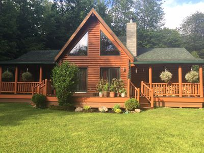 Photo for Cozy a frame log cabin in quiet neighborhood!  2 night minimum for all rentals!
