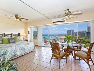 Photo for Beachfront location with GREAT view! Washer/dryer,  A/C, WiFi, sleeps 4.