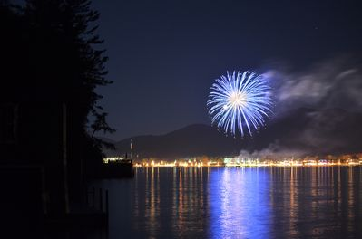Enjoy this great view of LG Village fireworks weekly during summer