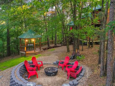 Photo for Cross Timbers 3+ Bedroom Luxury Log Cabin on a Creek Near Beavers Bend State Par