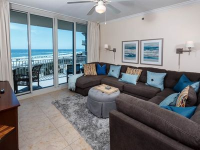 Photo for Spacious, beach-chic condo at Waterscape! Washer/dryer in-unit! Steps to beach! Lazy river on-site!
