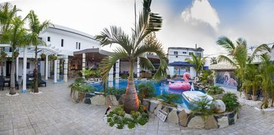 VIP Vacation Rentals offer Villa Glamour with 14 BR at center of Sosua with pool