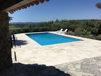 Photo for Beautiful villa with large pool and superb views