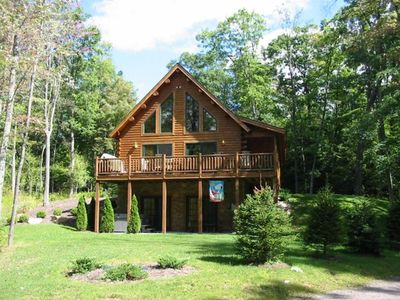 A Wispful Dream - Brand New Cedar Log Chalet on one-acre wooded lot.