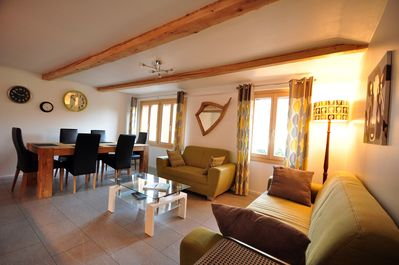 Spacious open plan lounge and dining area