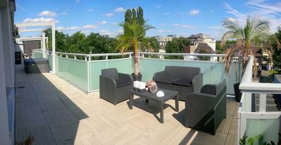 Photo for 30m2 wine storage with 150m2 roof terrace