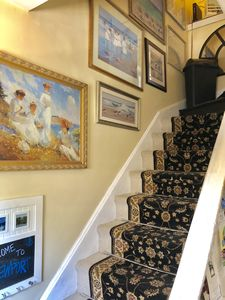 Stairs to suite