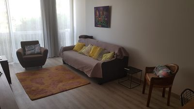 Photo for Apartment sleeps 4, 3 minutes from the beach, private parking