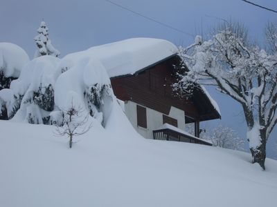 Photo for Private chalet, close to Crest-Voland and Espace Diamant