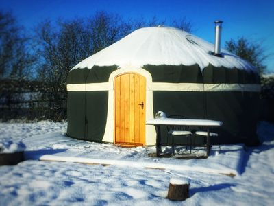 Photo for Milne's Corner luxury Yurt at Peake's Retreats glampsite. Sleeps 6 with hot tub