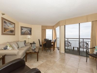 Photo for Oceanfront Suite for 6 | Private Balcony + Access to Indoor Pool and Hot Tub