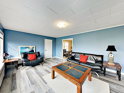 Living Area - Welcome to Rockaway Beach! This apartment is professionally managed by TurnKey Vacation Rentals.