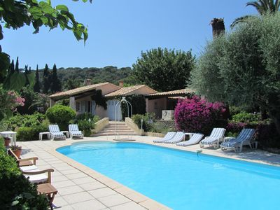Photo for Provencal mas with private pool, sea views, 5 km from beach