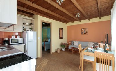 Photo for We are a new, welcoming, cool aparartment in Naxos town with great view.