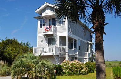 Photo for MAY special! Island Style Home, WATER VIEW, 2p KAYAK! 5 DECKS, BIKES, GOLF
