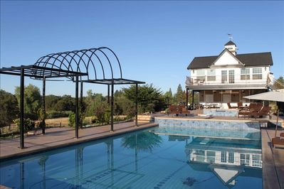 Cottage Pool House and Arbor