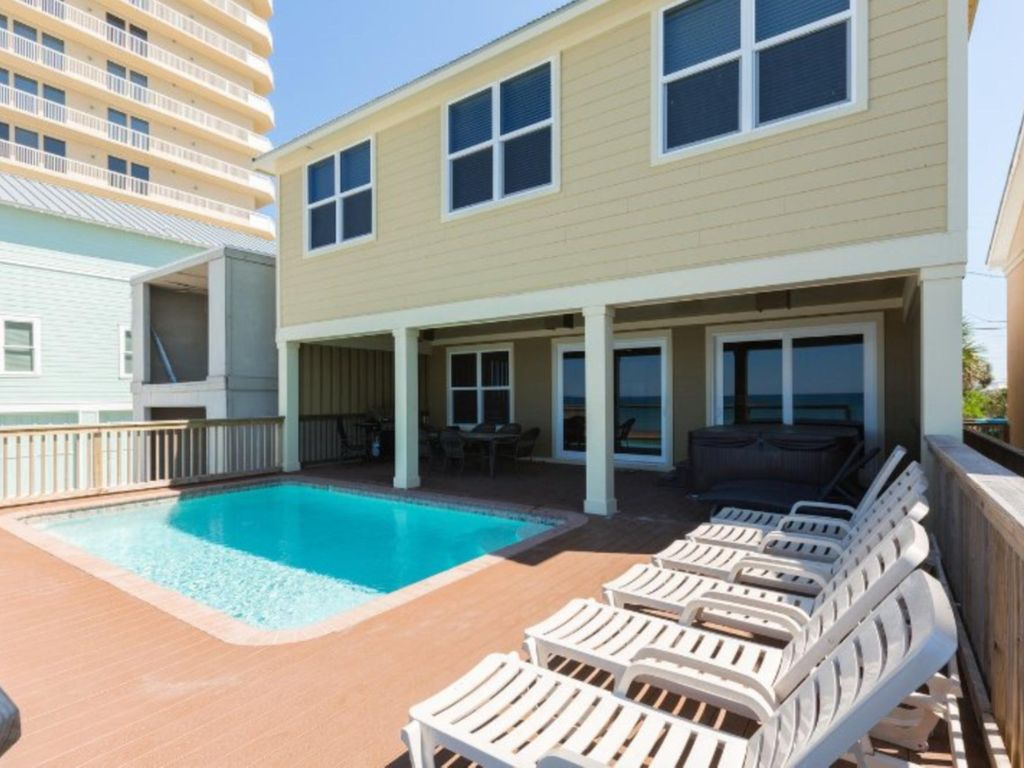 Directly On The Beach 6 Bedroom Beach House With Pool And Hot Tub Oceanfront Panama City