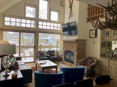 Photo for SKI IN/OUT spacious condo, beautiful canyon views, hot tub @ Lift 7 & Goose Stop