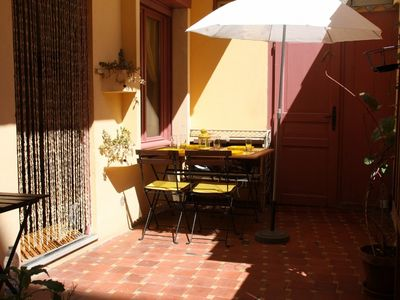Photo for Charming 3 rooms small apartment on the sea side with patio in French Riviera