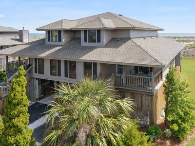 Photo for Ocean Front Pet Friendly Duplex with Boardwalk to the Beach, Screened Porch!