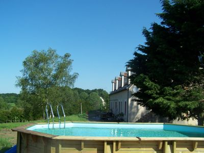 Photo for Cottage *** with pool near the castles of the Loire