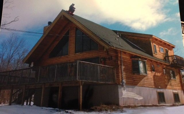 Brand New Log Cabin With View Of Mountain Only 1/4 Mile From Slopes