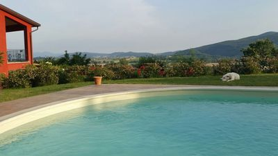 Photo for Countryside villa in panoramic position with swimming pool and beautiful garden