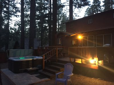 Photo for Tahoe King * Dog-Friendly * Large Enclosed Backyard with Deck BBQ and Hot Tub