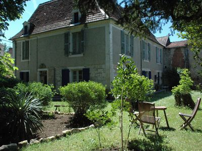 Photo for Authentic and stylish gîte for 10 people. in a village on the river