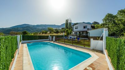 Photo for Rustic villa with fenced pool and chill-out area
