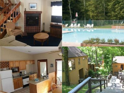 Photo for Pocono Resort Condo 2 Bed/2 Bath (Sleeps 8) ~Pool~Hot Tub