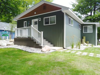 Photo for BIRCH - Grace Landing Cottages With Stunning Sunsets Over Hamlin Lake