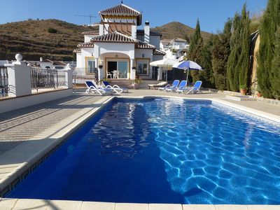 Photo for This 5-bedroom villa for up to 10 guests is located in Nerja and has a private swimming pool, air-co