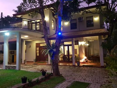 Photo for Spacious Lake Front Villa, 4 BR, 24 Hrs Cook, 45min From Capital Sri Lanka