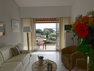 Photo for Apartment with beautiful sea view, botanical garden, swimming pool. The beach is 250 m.