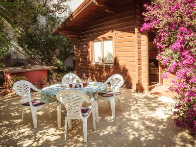 Photo for Cozy wooden house, magnificent panoramic view, friendly landlords and WiFi