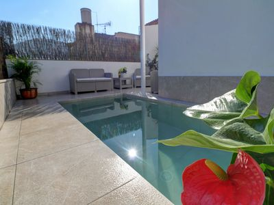 Photo for Townhouse, pool, air con, central town - House for 7 people in Pollensa / Pollença