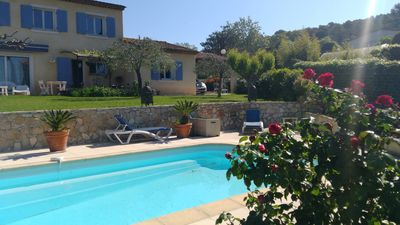 Photo for Quiet villa, private pool, Golf at 3 minutes, air-conditioned rooms