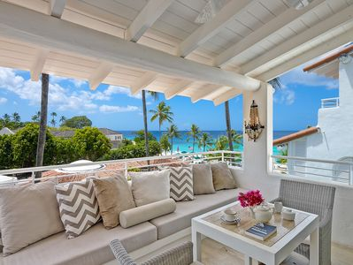 Water views from all four oceanfront  balconies