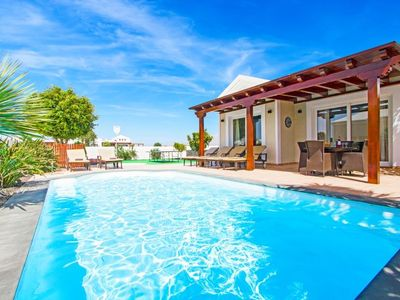 Photo for 4 bedroom Villa, sleeps 8 in Playa Blanca with Pool, Air Con and WiFi