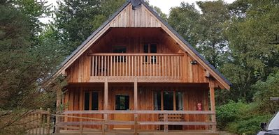 Photo for Log Cabin in the woods, cosy, peaceful, comfortable next to the river. A haven!