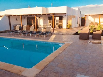 Photo for 3 bedroom villa , very private with stunning mountain views , heated pool