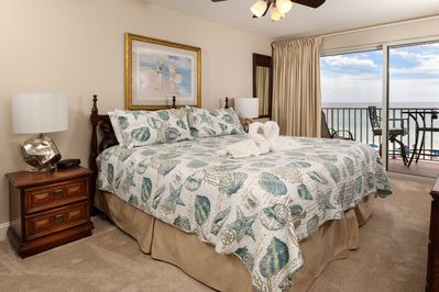 Master Bedroom - The master bedroom features private access to the balcony, truly making this a master suite!