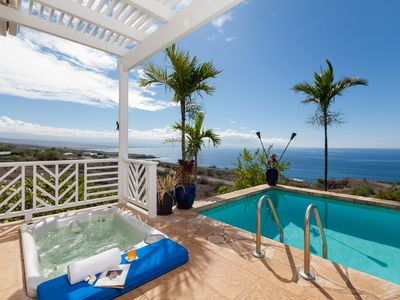 Photo for 5-Star 180 degree Ocean, Coastline & Mountain Views, Private Pool/Spa