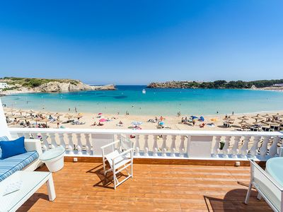 Photo for Fantastic beach front town house, Arenal de´n Castell, Minorca