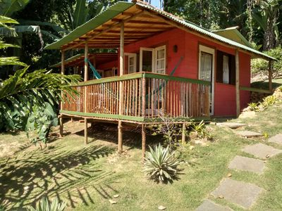 Photo for Chalet overlooking the sea at Praia do Flamengo in Ubatuba