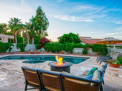 Photo for Welcome to your private Tranquil Desert Oasis!  Recentl renovated home & pool/sp